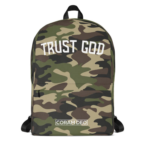 Trust God Camo Backpack - coramdeoapparel (2479151251513)