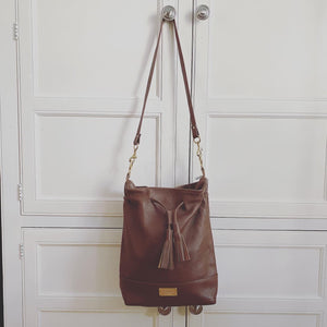 Tall Drawstring Bucket Bag