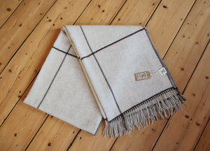 'Bounty' Sheep Wool Plaid