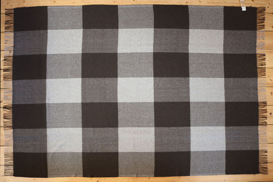 'Checked-In' Yak Wool Plaid