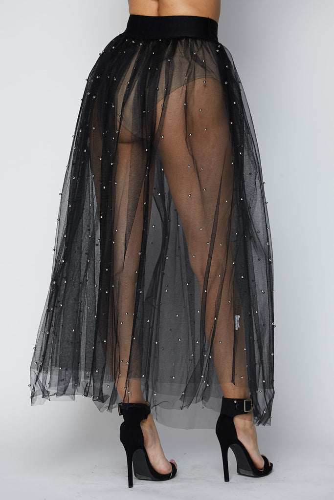 'Out Of Touch' Mesh Tulle Skirt