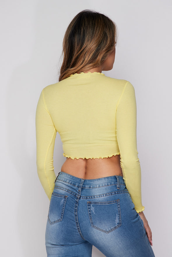 'The Getaway' Knit Crop Top