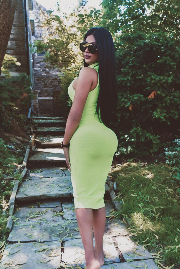 Neon green bandage - Dress