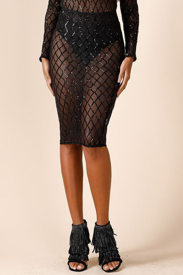 'In The Rough' Mesh Skirt