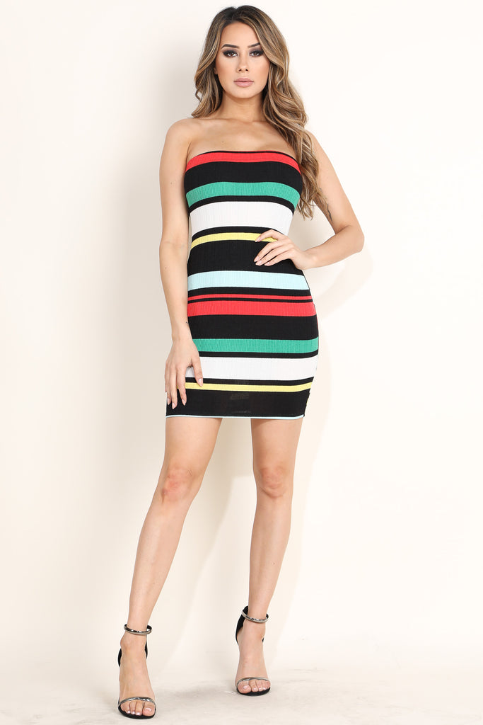 'Girl Power' Tube Mini Dress