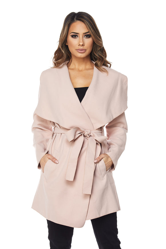 'Parisian' Pink Wrap Jacket