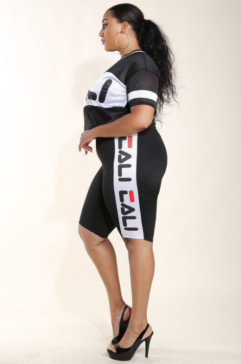 'Bring Your Game' Curvy Jersey Set