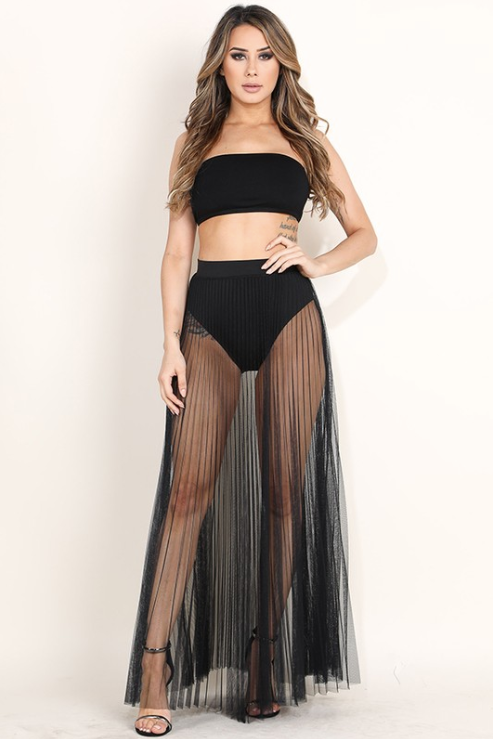 'Madison' Sheer Maxi Skirt
