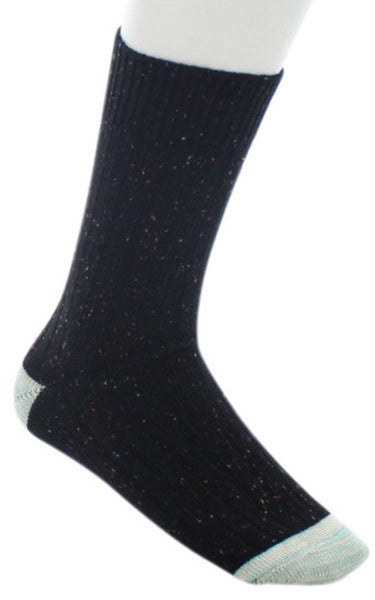 Ribbed Nep Crew Sock