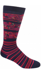 Floral Stripes Sock