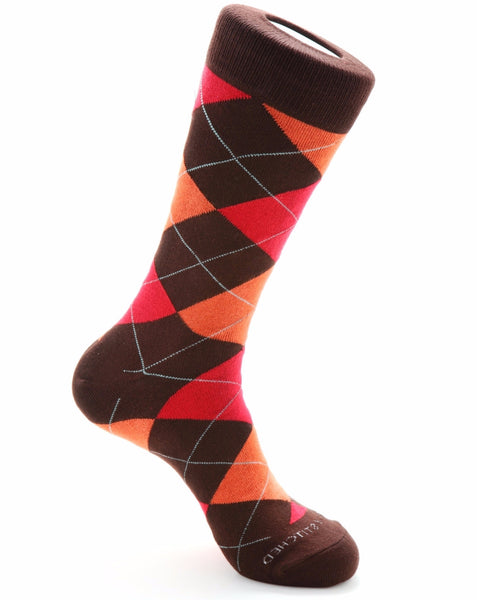 Argyle-Brown/Orange