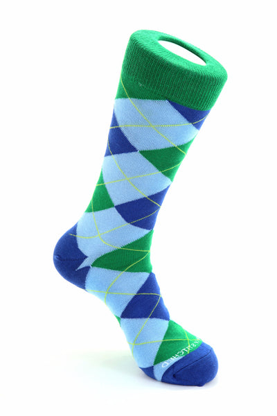 Traditional Argyle-Light Blue/Green
