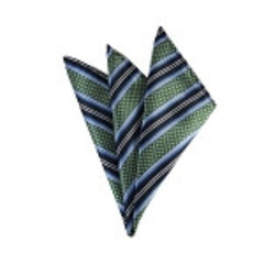 Weave Split Striped-Sage Green