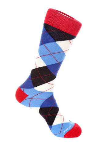 Unsimply Stitched Mens Traditional Argyle Size 8 to 12 Red//White//Blue UNSTSS15-2014-1