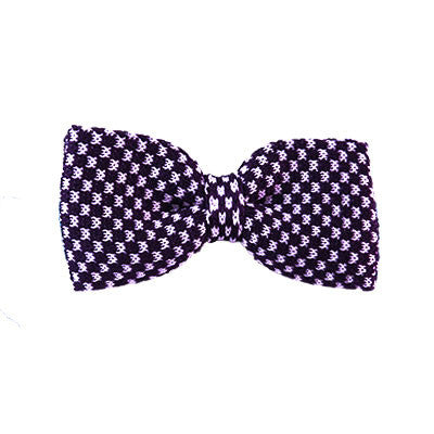 Purple Geometric Bowtie