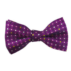 Violet Checked Bowtie