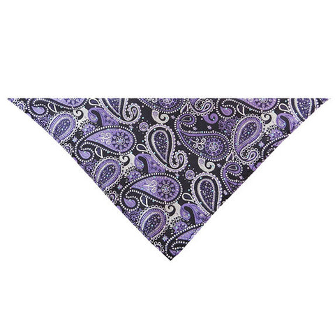 Purple Paisley Pocketsquare