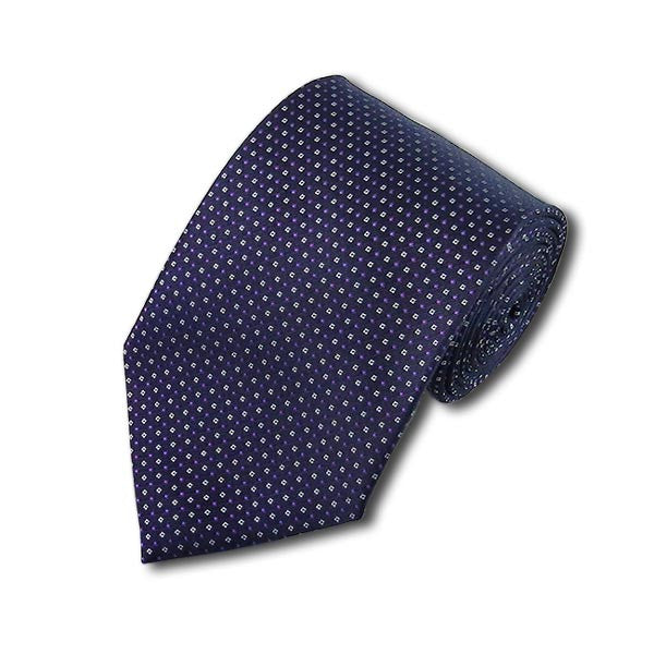 Purple Pindotted Slim Tie