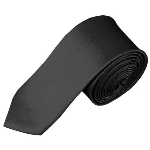 Solid Charcoal Skinny Tie