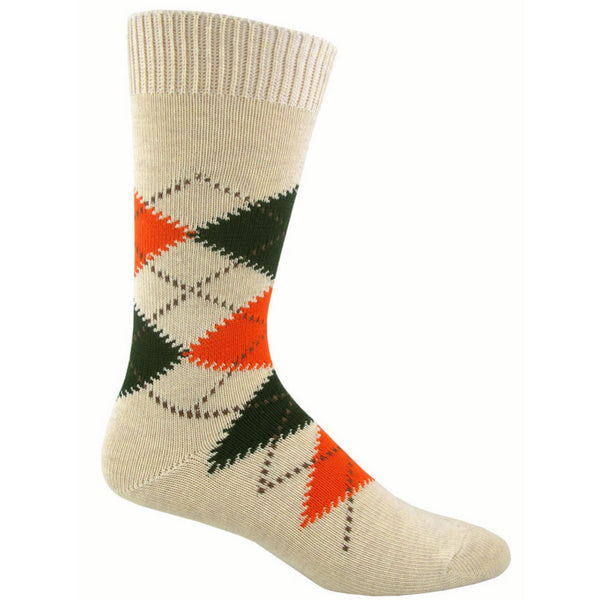 Men's Dandy Argyle Crew Socks - Sand Heather