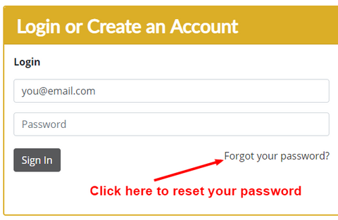 Reset your Allparts.com password