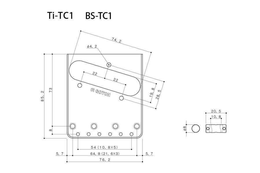 TB-5131 Gotoh BS-TC1 Aged Compensated Bridge for Telecaster®