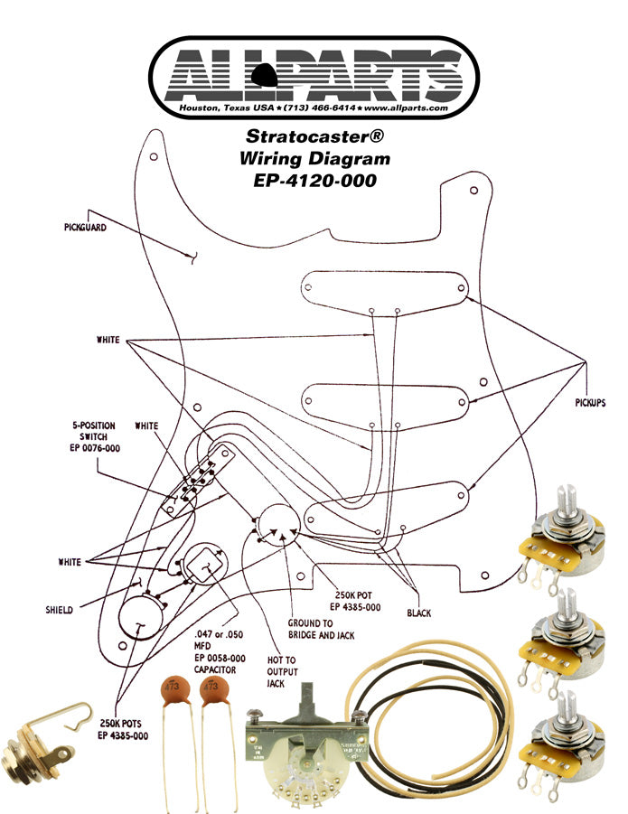 EP-4120 Wiring Kit for Stratocaster