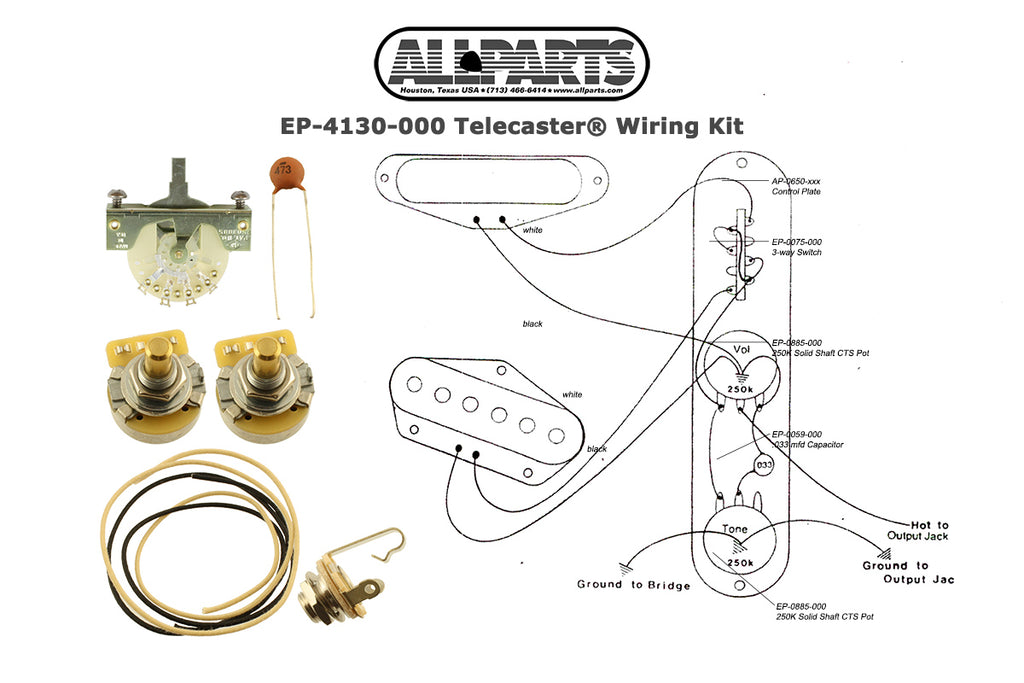 EP-4130 Wiring Kit for Telecaster®