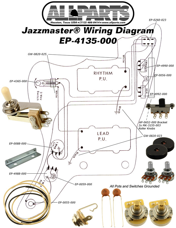 EP-4135 Wiring Kit for Jazzmaster