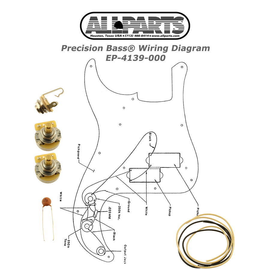 EP-4139 Wiring Kit for Precision Bass