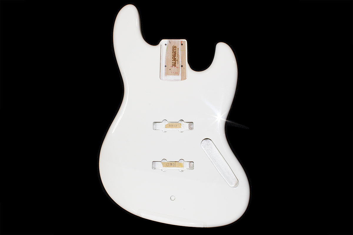 JBF-OW Olympic White Finished Replacement Body for Jazz Bass