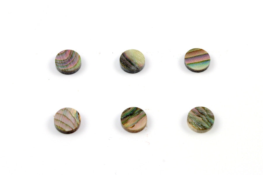 LT-1498 Organic Red Abalone Inlay Dots
