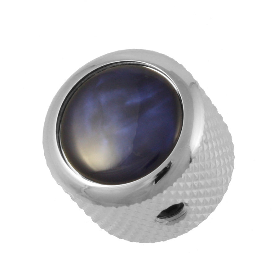 MK-3173 Q-Parts Blue Pearl Dome Knob