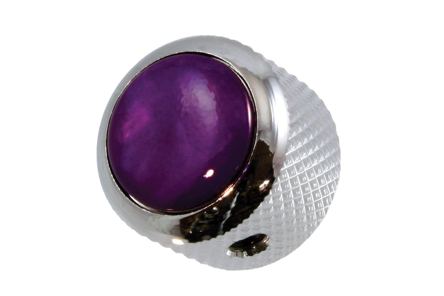 MK-3187 Q-Parts Purple Pearloid Metal Knob