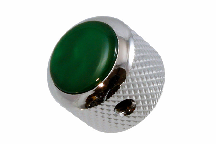 MK-3188 Q-Parts Green Pearloid Metal Knob