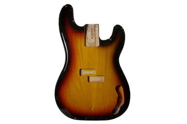 PBF-3SB 3-Tone Sunburst Finished Replacement Body for Precision Bass
