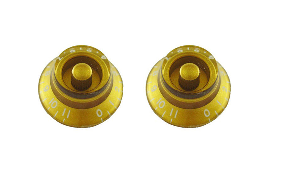 Allparts PK-0142-032 Bell Knobs 0-11 Gold