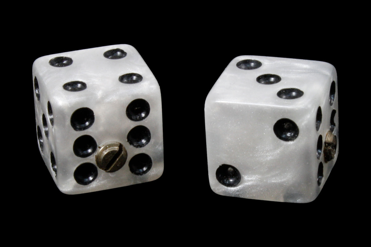 Set of 2 Transparent Blue Unmatched Dice Knobs