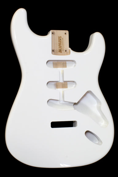 SBF-OW Olympic White Finished Replacement Body for Strat