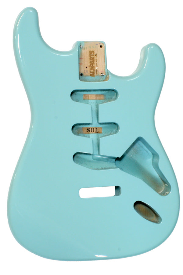 SBF-SB Sonic Blue Finished Replacement Body for Strat