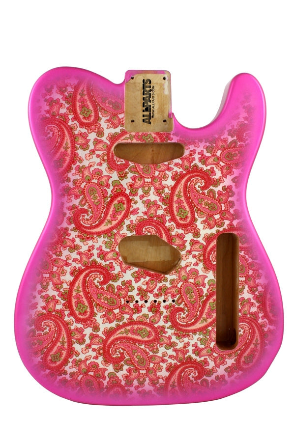 TBF-PKP Pink Paisley Finished Replacement Body for Tele