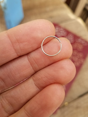 Plain Body Jewelry Hoops//Sterling Silver. Gold Filled. Steel//5-11mm