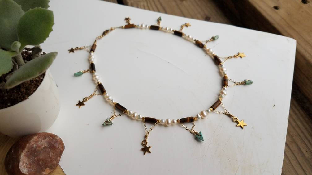 Shooting Stars & Turquoise Necklace
