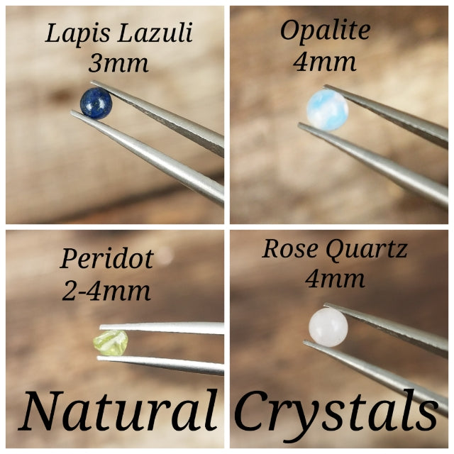 Crystal Body Jewelry Hoops//5-7mm//Sterling Silver//18g 20g 22g