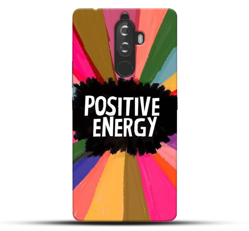 Pikkme Funky Swag Cool Trendy Inspirational Motivational Quote/Quotes -  Positive Energy - Rainbow Background Designer Printed Hard Back Case and  Cover