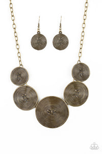 Deserves A Medal - Brass Necklace - Paparazzi Accessories