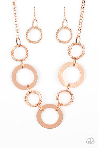 Ringed in Radiance - Copper Necklace - Paparazzi Accessories
