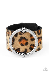 Asking FUR Trouble - Brown Bracelet - Paparazzi Accessories