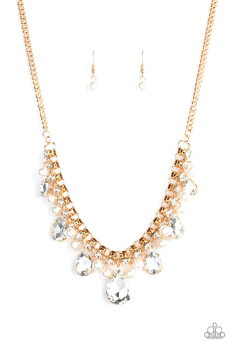 Knockout Queen - Gold Necklace - Paparazzi Accessories