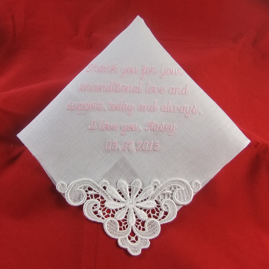 Ladies Embroidered Handkerchief Linen